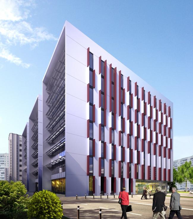 Офисный комплекс на улице Научной в г. Львове © Архиматика