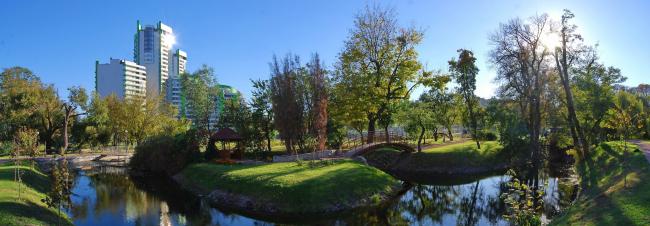 """""""Parkove Misto"""" residential complex in Kiev. """"Kristerova Gorka"""" landscape park © Archimatika"""