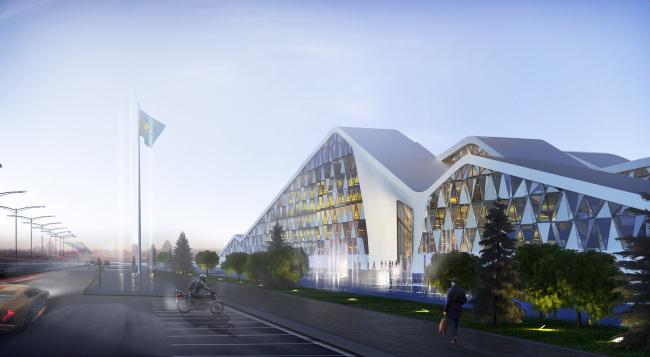 Национальный банк Казахстана в Астане. Проект © Архиматика
