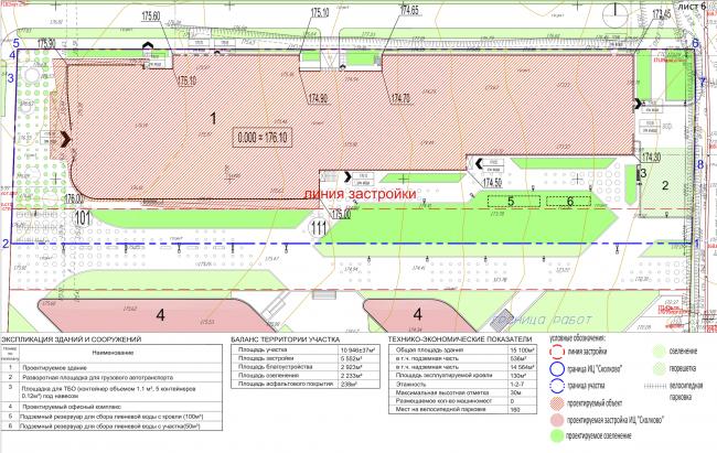 Научно-технический центр в Сколково. Схема планировочной организации земельного участка © ABD architects