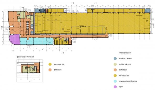 Научно-технический центр в Сколково. План 1 этажа © ABD architects