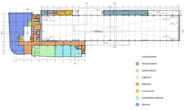 Научно-технический центр в Сколково. План 2 этажа © ABD architects