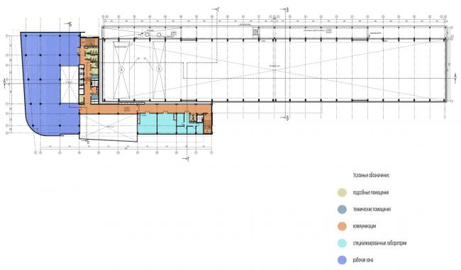 Научно-технический центр в Сколково. План 3 этажа © ABD architects
