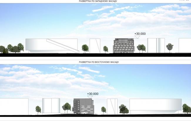 Research and Development center in Skolkovo. Facades © ABD architects