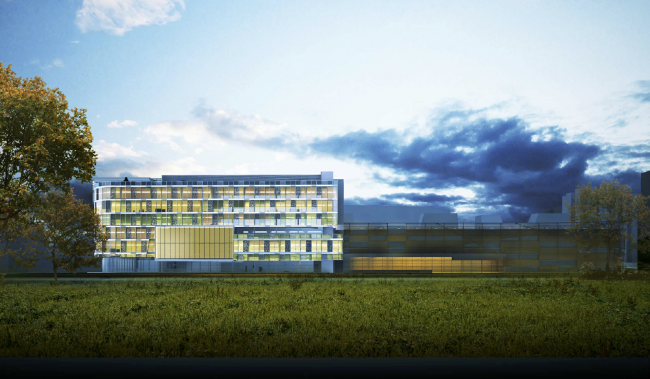 Research and Development center in Skolkovo. South facade © ABD architects