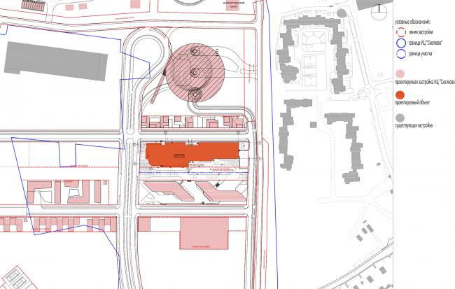 Research and Development center in Skolkovo. Location plan © ABD architects