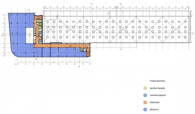 Research and Development center in Skolkovo. Plan of the typical (5-5) floor © ABD architects