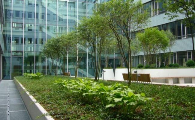 Офис страховой компании WGV-Versicherungen в Штутгарте © ZinCo, zinco-greenroof.com