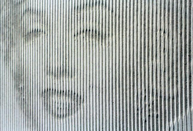 Мерлин Монро, один из образцов облицовочных панелей для новых ДСК. «Зодчество 2015». Фотография © Юлия Тарабарина, Архи.ру