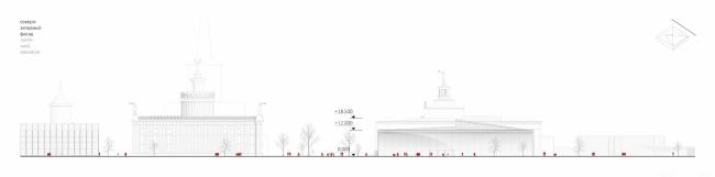 Павильон «Росатома» на ВДНХ. Северо-западный фасад © UNK project