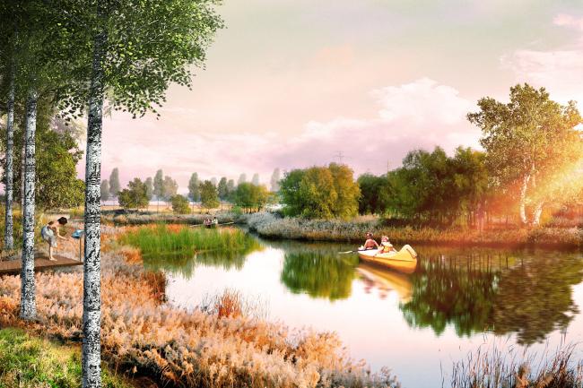 Верхнее озеро Кабан. Проект консорциума Turenscape + MAП