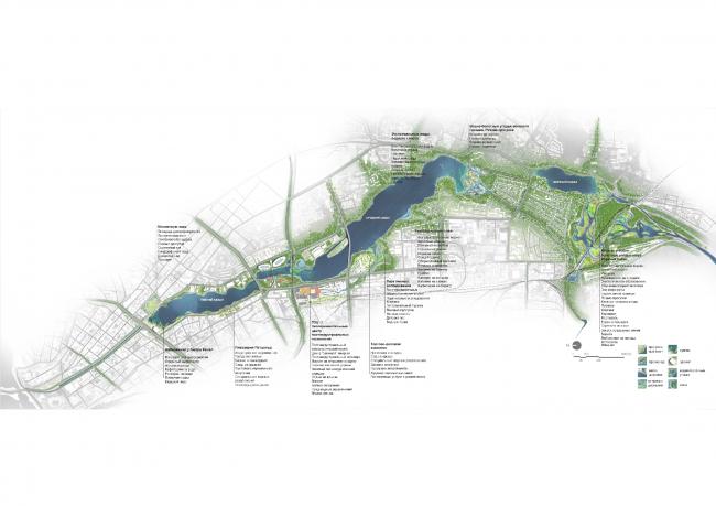 Система озер Кабан. Основной план. Проект консорциума Turenscape + MAП