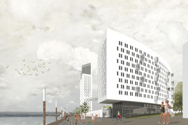 Проект жилого комплекса на Ленинградском шоссе © Сергей Скуратов ARCHITECTS