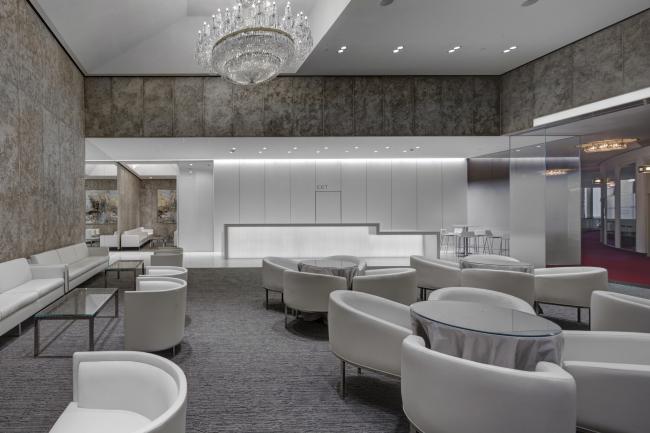 Реновация «Golden Circle Lounge» под «Русскую Гостиную» в Центре Исполнительского Искусства им. Джона Кэннеди. Фотография © Сергей Скуратов ARCHITECTS