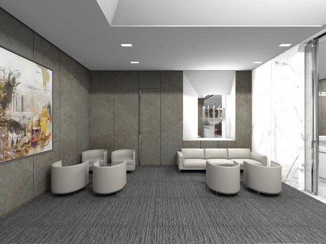 Реновация «Golden Circle Lounge» под «Русскую Гостиную» в Центре Исполнительского Искусства им. Джона Кэннеди. Визуализация © Сергей Скуратов ARCHITECTS