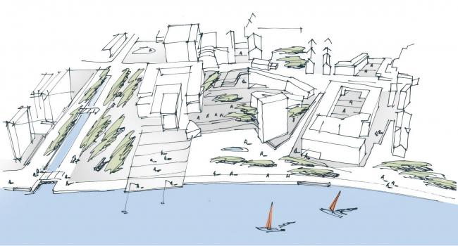 Вторая очередь реконструкции порта Ольборга © C.F. Møller Landscape