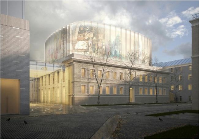 Оперный театр-студия на 500 мест. Общий вид © ФГУП «Центральные научно-реставрационные проектные мастерские», ООО «Архструктура»