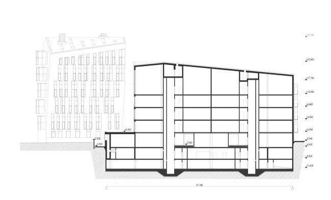 Жилой Комплекс «Арт хаус». Разрезы © Сергей Скуратов ARCHITECTS
