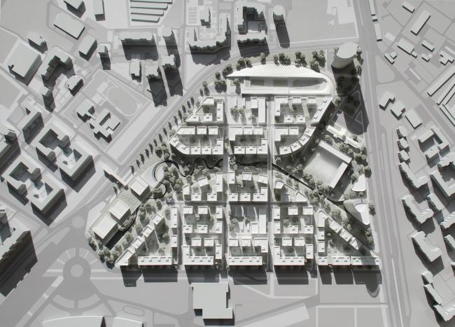 Проект застройки жилого района «Седьмое небо» в Казани. Макет © Сергей Скуратов ARCHITECTS