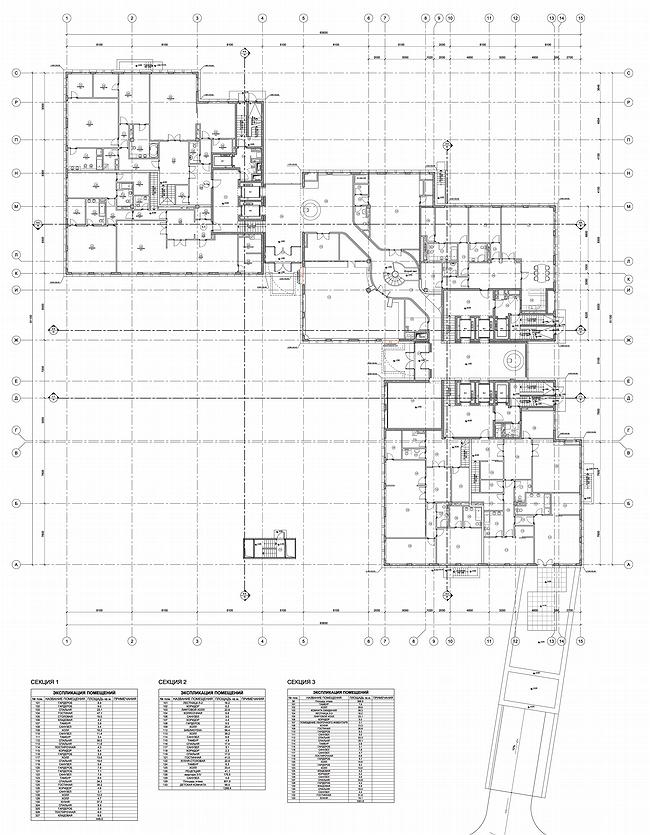 ЖК «Гранатный 6». План 1 этажа