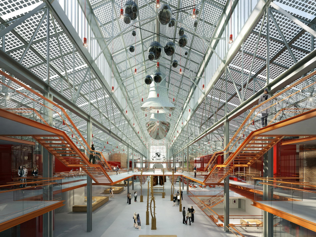 The V-A-C foundation Center of Modern Culture in the former GES-2 power plant. Photo courtesy by Renzo Piano Building Workshop (RPBW)