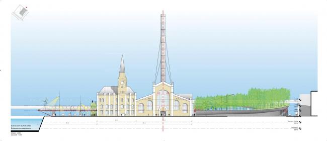 Центр современной культуры фонда V-A-C в бывшей электростанции ГЭС-2. Предоставлено Renzo Piano Building Workshop (RPBW)