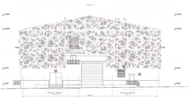 Подстанции «Поселковая» и «Роза Хутор» в районе Красной Поляны в г. Сочи. Фасад © ГрандПроектСити