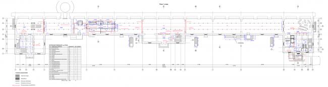 Филиал ГЦСИ в здании Арсенала в Нижнем Новгороде. План 1 этажа © Архитекторы Асс