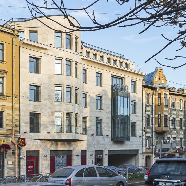 Жилой дом в Малом переулке в Санкт-Петербурге © Архитектурная мастерская «Земцов, Кондиайн и партнёры»