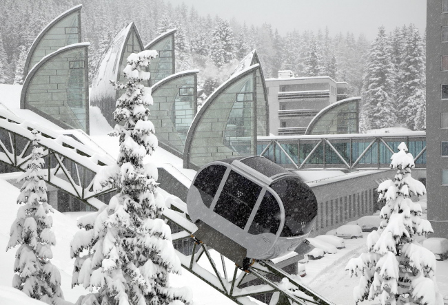 Спа-центр Tschuggen Bergoase в Аросе (Швейцария) © Urs Homberger