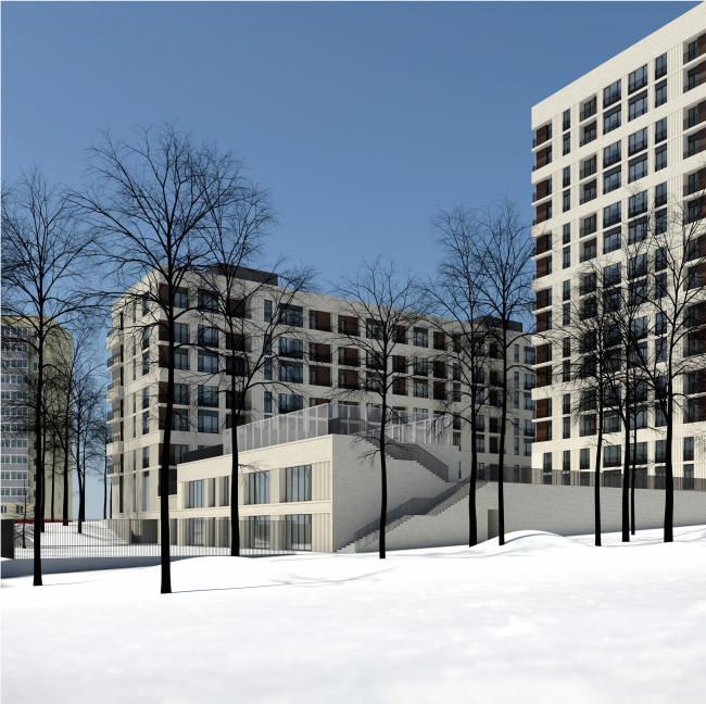 Жилой комплекс на ул. Гришина. Проект, 2015 © Сергей Киселёв и Партнеры