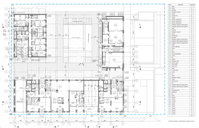 Residential complex on the Grishina Street. Plan of the first floor. Project, 2015 © Sergey Kiselev and partners