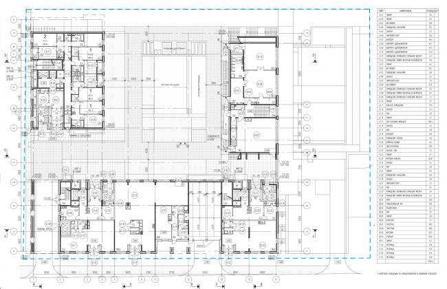 Жилой комплекс на ул. Гришина. План 1 этажа. Проект, 2015 © Сергей Киселёв и Партнеры