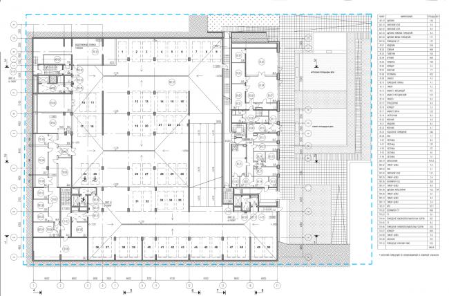 Жилой комплекс на ул. Гришина. План подземной парковки на -1 этаже. Проект, 2015 © Сергей Киселёв и Партнеры