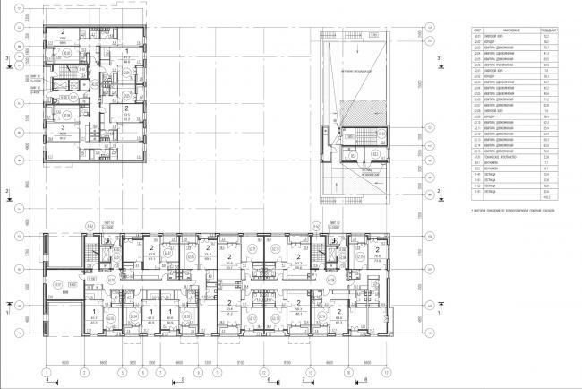 Жилой комплекс на ул. Гришина. План 2 этажа. Проект, 2015 © Сергей Киселёв и Партнеры