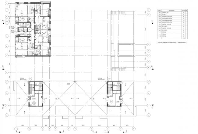 Жилой комплекс на ул. Гришина. План 8 этажа. Проект, 2015 © Сергей Киселёв и Партнеры