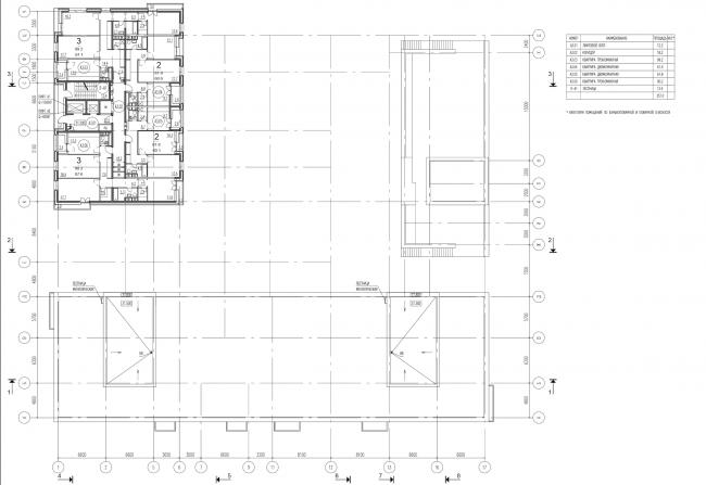 Жилой комплекс на ул. Гришина. План 9 этажа. Проект, 2015 © Сергей Киселёв и Партнеры