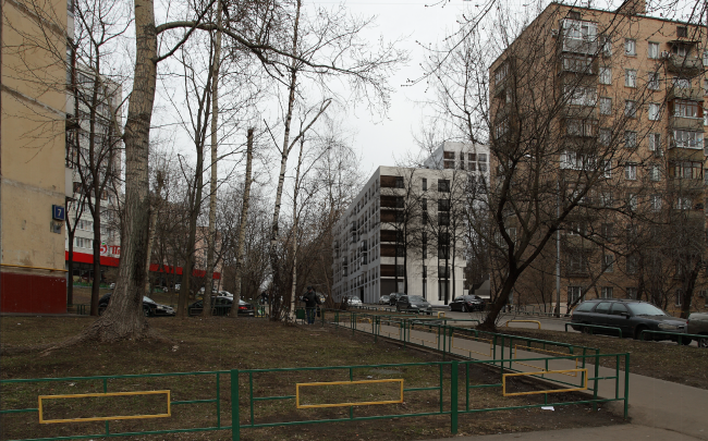 Жилой комплекс на ул. Гришина. Фотомонтаж. Проект, 2015 © Сергей Киселёв и Партнеры