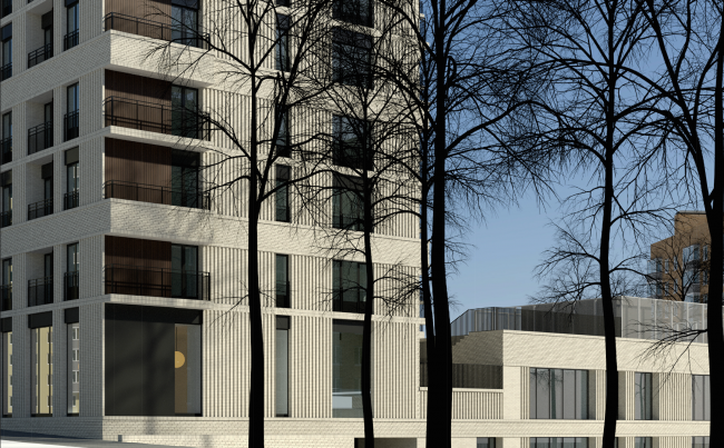 Residential complex on the Grishina Street. Project, 2015 © Sergey Kiselev and partners