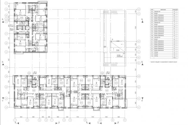 Жилой комплекс на ул. Гришина. План типового этажа. Проект, 2015 © Сергей Киселёв и Партнеры