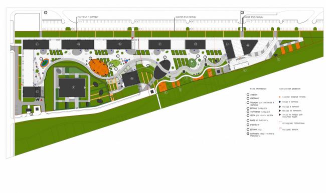 Многоквартирные дома на Комендантском проспекте. Генеральный план © Евгений Герасимов и партнеры