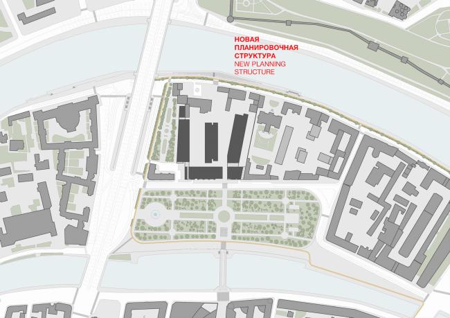 Многофункциональная комплексная застройка на Софийской набережной. Новая планировочная структура © Сергей Скуратов ARCHITECTS