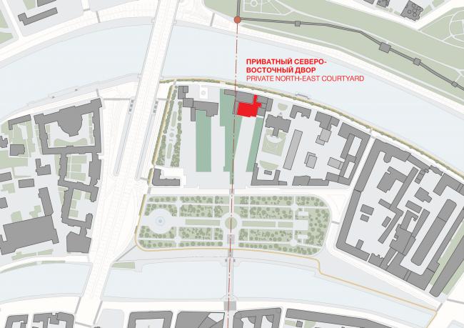 Многофункциональная комплексная застройка на Софийской набережной. Приватный двор © Сергей Скуратов ARCHITECTS