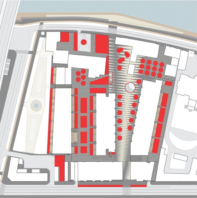 Многофункциональная комплексная застройка на Софийской набережной. Газоны © Сергей Скуратов ARCHITECTS