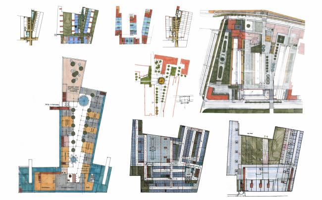 Многофункциональная комплексная застройка на Софийской набережной. Поиск © Сергей Скуратов ARCHITECTS