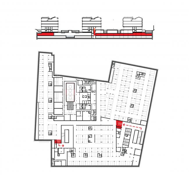 Многофункциональная комплексная застройка на Софийской набережной. Контроль доступа © Сергей Скуратов ARCHITECTS