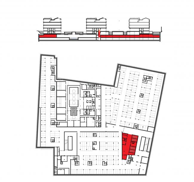 Многофункциональная комплексная застройка на Софийской набережной. Автомойка © Сергей Скуратов ARCHITECTS