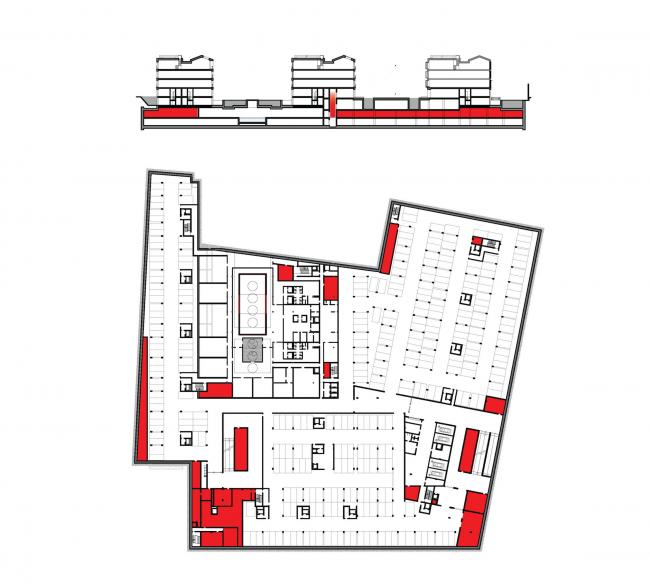 Многофункциональная комплексная застройка на Софийской набережной. Технические помещения © Сергей Скуратов ARCHITECTS