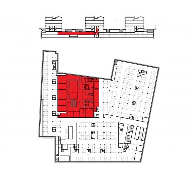 Многофункциональная комплексная застройка на Софийской набережной. Фитнес и SPA © Сергей Скуратов ARCHITECTS