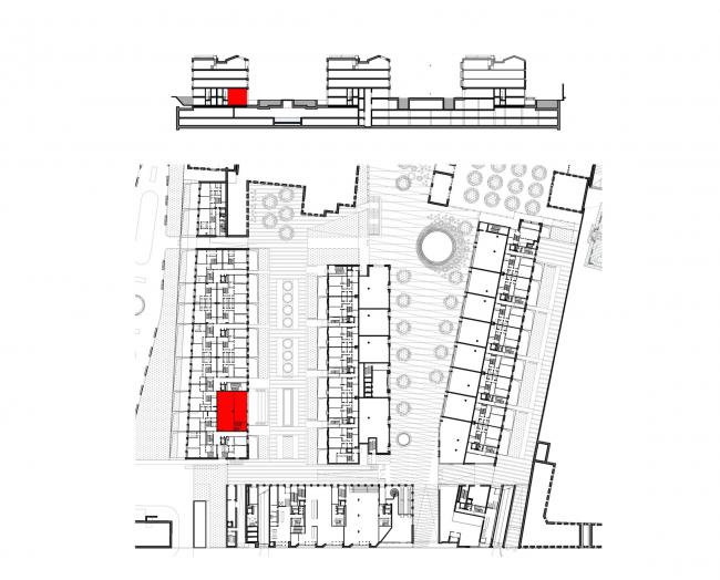 Многофункциональная комплексная застройка на Софийской набережной. Детская студия © Сергей Скуратов ARCHITECTS